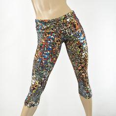 de7b3e88d5c53 Animal Print - Hot Yoga - Capri Pant - Fold Over Waist/High Waist - Printed  Leggings - Plus Size Workout - Running pants - SXYfitness - USA