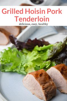 This quick-and-easy Grilled Hoisin Pork Tenderloin is full of Asian flavor and ready in about 15 minutes on the grill. #dinner #kidfriendly #quickandeasy Healthy Meals For One, Healthy Eating Recipes, Healthy Cooking, Easy Meals, Healthy Dinners, Delicious Recipes, Healthy Food, Pork Sirloin Chops, Pork Tenderloin Recipes