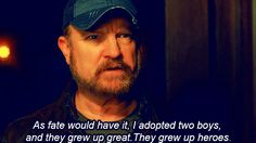 """But you still know your family is the best.   24 Signs You're Actually Bobby From """"Supernatural"""""""