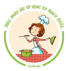 Frase | Quote | kiwifrase | Haz más de lo que te hace feliz. Cocinar, por ejemplo.
