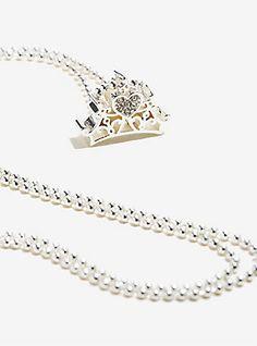 Disney Princess Silver Crown Necklace,