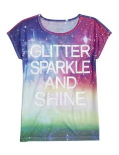Shop Glitter Sparkle Shine Graphic Tee and other trendy girls graphic tees clothes at Justice. Find the cutest girls clothes to make a statement today.