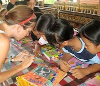 Bali volunteer from uk