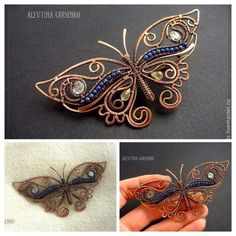 http://rubies.work/0263-ruby-rings/ celtic wire jewelry tutorial | Wire Wrapped Copper Butterfly Pendant