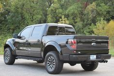 Black Ford 2013 Ford F-150 Truck