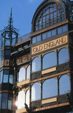 Old England art nouveau building, Brussels, Belgium