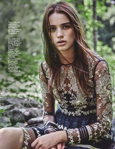 The bohemian trend continues to go strong with this editorial featured in a recent issue of Grazia Italy. Photographed by Christopher Ferguson of Atelier Management, model Jenia Ierokhina has a case of wanderlust as she poses in the great outdoors in the romantic designs of Temperly, Etro and Just Cavalli styled by Caroline Titcumb. Related