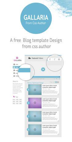Gallaria - Free Blog Template Design From cssauthor.com