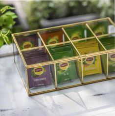NCYP Glass Terrarium Box Tea Coffee Bag Storage Organizer image 4