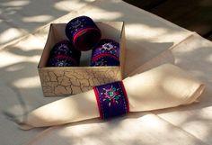 polandhandmade.pl #napkinrings #felt #embroidery