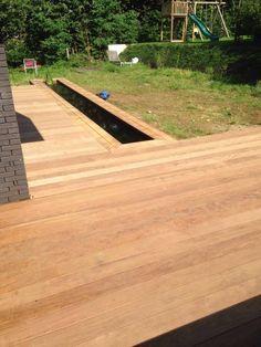 Een houten terras aanleggen terras livios tuinontwerpen pinterest tuin en bouw - Bouw een overdekt terras ...