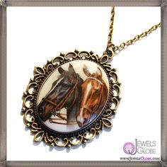gorgeous Horse Play Cameo Necklace EXCLUSIVE to Cheap