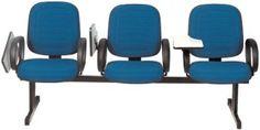 Cadeira diretor fixa sobre longarina com prancheta escamoteável 6002SL