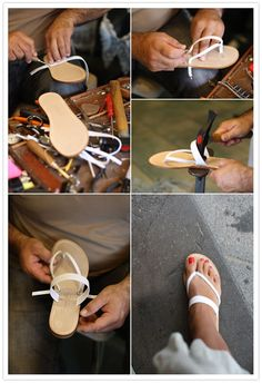 Amanda discovered a fabulous little sandal shop, Nana Positano, where they craft some beautiful sandals (for only 30 euros!).
