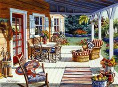 Americana Porch ~ Erin Dertner