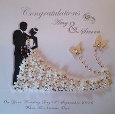 Bride and groom / mr and mrs /anniversary personalised framed keepsake gift Wedding Day Cards, Wedding Cards Handmade, Personalized Wedding Gifts, Wedding Invitation Cards, Silver Anniversary Gifts, Wedding Anniversary Cards, Anniversary Invitations, Anniversary Pictures, Deep Box Frames