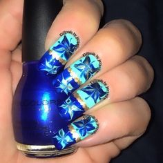 Drymarble flower mix I used Gold Medal and Midnight Blue by @sinfulcolors_official and a mint green by @kozmiccolours #nails #nailsdid #nailswag #nailsofinstagram #nailsaddict #nailart #naildesign #nailpolish #notd  #nailobsessed #naillove #ignails #fashion #featuremynails #nailsdaily #nailitdaily #lookatmynailart #glamorousnailart #nailssofine #scra2ch  #nails_by_jacqueline_  #sinfulcolors #kozmiccolours #blue #gold #green #mintgreen #drymarble #flowernails by nails_by_jacqueline_