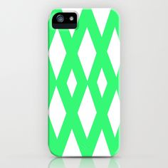 Mint Diamonds iPhone Case