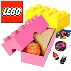 LEGO Brick Lunch Box Plastic Food Storage Containers Lunchbox Kids Adults Retro…