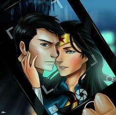 Wonder Woman Y Superman, Batman And Superman, Batman Stuff, Batman Art, Dc Comics, Dc Couples, Joker And Harley, Batwoman, Dc Heroes