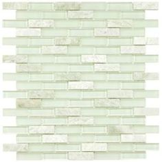 Merola Tile, Tessera Subway Ming 11-3/4 in. x 11-3/4 in. x 8 mm Glass and Stone Mosaic Wall Tile, GITMMSW at The Home Depot - Mobile
