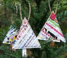 Cute idea for a quilting friend - could be a package tag and then for her tree....must make some of these!