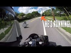 cool Awesome Biker Chases Down a Hit and Run Suspect