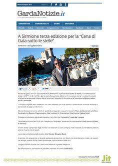 """Alle 19.45 stasera a #Sirmione, sul #LagoDiGarda inizierà la """"Cena di Gala sotto le stelle"""" con i vini offerti dal #ConsorzioLuganaDOC"""