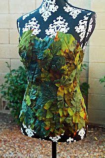 Poison Ivy Corset Costume