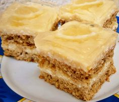 Citromos-vaníliás kocka diétásan Apple Pie, Paleo, Food, Essen, Beach Wrap, Meals, Yemek, Apple Pie Cake, Eten