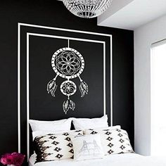 Wall Decal Vinyl Sticker Decals Art Home Decor Murals Dreamcatcher Dream Catcher Feathers Symbol Decoration Bedroom Dorm from Amazon
