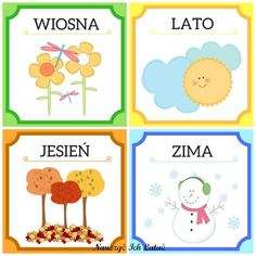 Nauczyć Ich Latać, dekoracje, przedszkole Seasons Of The Year, Four Seasons, Weather For Kids, Learn Krav Maga, Polish Language, Calendar Board, Primary Teaching, Doodle Coloring, Kids And Parenting