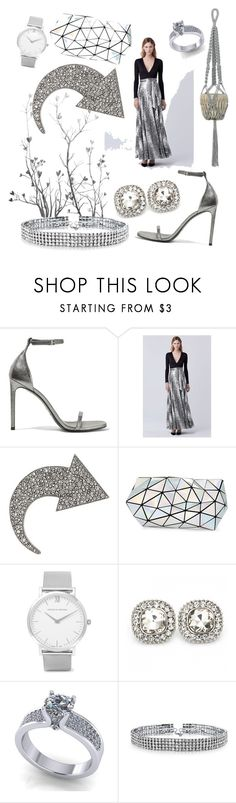 """""""grey shades"""" by amalia-paraschiv ❤ liked on Polyvore featuring Yves Saint Laurent, Diane Von Furstenberg, Sonia Rykiel, Bao Bao by Issey Miyake, Larsson & Jennings and Bling Jewelry"""