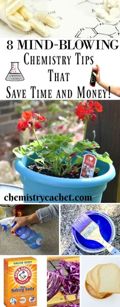 These are mind-blowing chemistry tips that save time and money. Safe AND effective solutions to help you around the home! See these fun tips on chemistrycachet.com