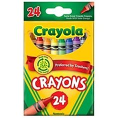 Lot of Two 24 count Crayola Colored Crayons Retired Dandelion Color #Crayola #Crayons #RetiredDandelionCrayon