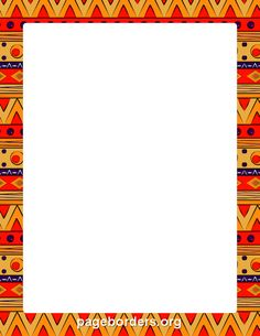 Free African Border Templates Including Printable Border Paper And Clip Art  Versions. File Formats Include GIF, JPG, PDF, And PNG.