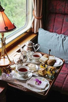 What it's like to take a luxury train ride through South East Asia - Vogue Living (Favorite Spaces Apartments) Coffee Time, Tea Time, Venice Simplon Orient Express, Café Chocolate, Tea Service, Train Rides, Train Travel, Travel Plane, Travel Luggage