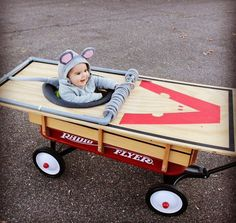 Kids Halloween costume mouse baby toddler rat wagon stroller costumes family trick or treating Baby Halloween Costumes For Boys, Hallowen Costume, Creative Halloween Costumes, Halloween Kids, Costume Ideas, Halloween 2018, Deer Costume, Halloween Treats, Funny Costumes
