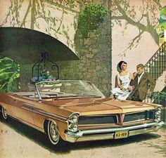1963 Pontiac Bonneville Convertible: Art Fitzpatrick and Van Kaufman Pontiac Bonneville, Illustrations Poster, Car Illustration, Vintage Advertisements, Vintage Ads, Convertible, Pontiac Cars, Chevrolet Corvette, Car Advertising