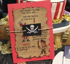 DIY Jake and the Neverland Pirates Party Invitations