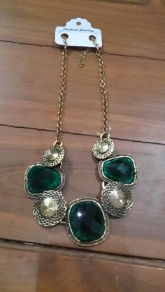 Green necklace..