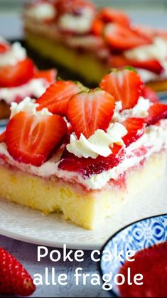 Summer Desserts, No Bake Desserts, Nutella Biscuits, Good Food, Yummy Food, Sweet Cakes, Italian Recipes, Cheesecake, Strawberry