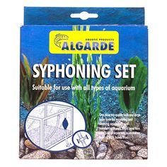 Algarde Syphoning Set For All Types Of Aquariums.  Used In Original Box Numerous In Variety