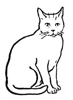 Vignette 3 Cat clipart Cat artwork Cat stickers
