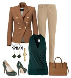 """work wear"" by gallant81 ❤ liked on Polyvore featuring Michael Kors, L.K.Bennett, Balmain, Vero Moda, Lana, Bulova and DKNY"