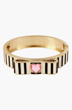 Bangle Perfection: Stripes + Heart + Gold