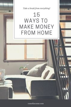 In this post I will share 15 ways how to make money from home, make money online, ways to make money from home make money fast and much more! #makemoney #online #onlinemoney #moneyfromhome Make Money From Home, Way To Make Money, Make Money Online, How To Make, Money Fast, Buying Your First Home, Home Buying, Moving House Checklist, This Is Your Life