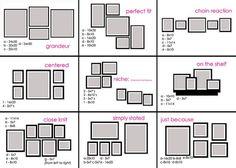 anordnung von Rahmen und Quadraten etc