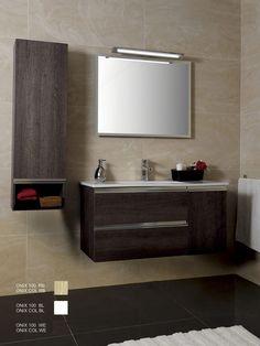 Mueble baño suspendido 2 cajones 1 puerta Lavabo incluido