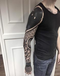 Blackwork Full Sleeve by Jakob Holst Rasmussen